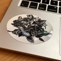 Black & White Botanical Vinyl Art Sticker