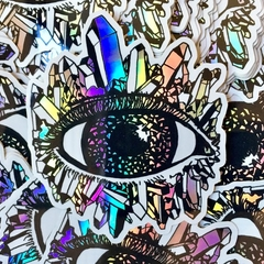 3rd Eye Rainbow Holographic Crystal Sticker