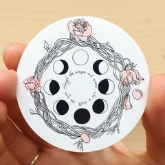 """""""Though She Waxes & Wanes, She is Still the Moon"""" Positive Quote Art Sticker"""