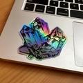 Holographic Crystal Sticker, Rainbow Gemstone Art Sticker