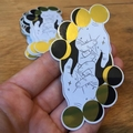 """""""With You Through Every Phase"""" Gold Moons & Palmistry Metallic Art Sticker"""