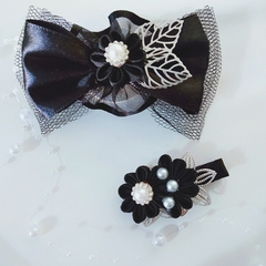 Ribbon bow and hair clip