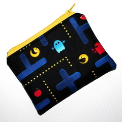 Little Coin Purse in Pacman Fabric