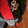 Kimono Tree Brooch - Blood Red
