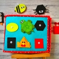 Quiet book, busy book, felt book, montessori book, educational book