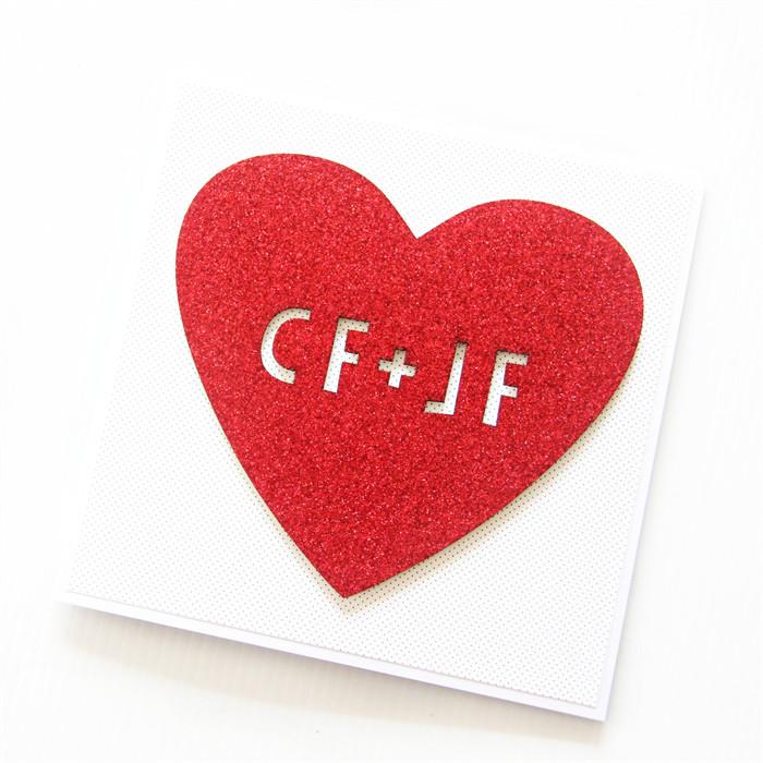 Love card personalised Anniversary Wedding Engagement Valentine