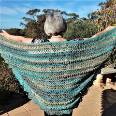 OOAK Crochet Fine Wool Shawl