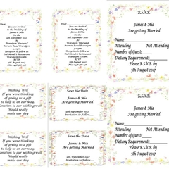 Floral Printed Wedding Stationery Package