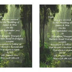 Nature Themed  Printed Wedding Invitations