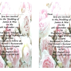 Peonies  Printed Wedding Invitations
