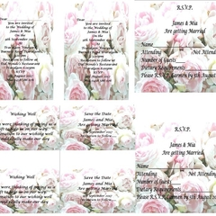 Peonies Printed Wedding Stationery Package