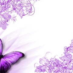 PURPLE BUTTERFLY ENVELOPES