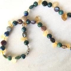 Agate & Citrine Gemstone necklace.