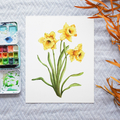 Daffodils Printable Watercolour Botanical Art   A3, A4 & A5 Instant Download