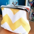"Medium coin purse ""Chevron"""
