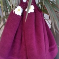 Set x 3 Fuchsia PinkCrochet Top Hand Towels Cotton Free Shipping Australia