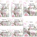 PEONIES PRINTED WEDDING STATIONARY PACKAGES