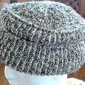 Men's or Unisex Winter Beanie Pure NZ Wool Yarn - Ribbed Design