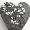 Mosaic heart wall hanging