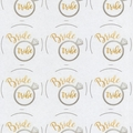 SILVER AND GOLD ROUND 60MM BRIDE TRIBE GLOSSY STICKERS