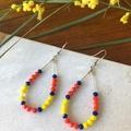 Crystal Teardrop Dangle earrings.