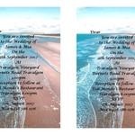 Beach Themed  Printed Wedding Invitations