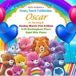 12 x Care Bears Printed Birthday Party Invitations