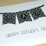 Fathers Day card - Black bunting