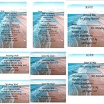 Beach Themed Printed Wedding Stationery Package