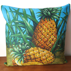 Queensland Pineapples Linen Cushion Cover