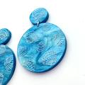 Acrylic Earrings - Sea Shells - Surgical Steel Studs