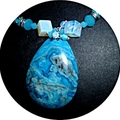 Stunning aqua blue necklace,