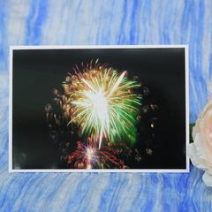 Fireworks Photo on a Blank Card