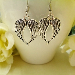 Small Silver Angel Wing Earrings