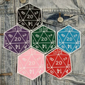 D20 Critical Hit Iron On Patch