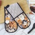 Cat Oven Gloves | Cat Kitchen Decor Grey and Black | Cat Gift | Cat Mum