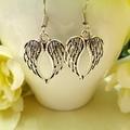 Small Silver Angel Wing Earrings
