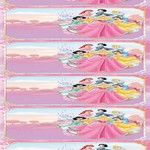 6 x Disney Princesses Wraparound Water Bottle Label