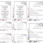 Purple Flourish Printed Wedding Stationery Package