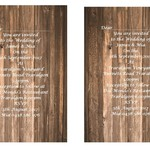 Rustic Wood Panel  Printed Wedding Invitations