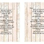 Rustic Pink Wood Panel  Printed Wedding Invitations
