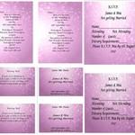 Pink Bokeh Printed Wedding Stationery Package
