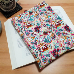 Patchwork Hearts Padded Book Sleeve