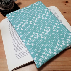 Aqua Arrows Padded Book Protector