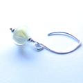 Tang Lemon Lime glass and sterling earrings