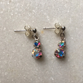 Swarovski AB Crystal Drop Stud Earrings