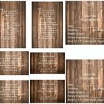 Wood Grain Printed Wedding Stationery Package