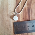 petite moonstone sterling silver pendant for necklace, handmade, unique