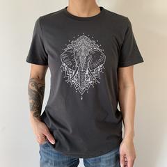 Womens T-shirt - Elephant Mandala Print. Size M