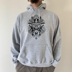 Mens Hoodie - Hanya Print. Size XL
